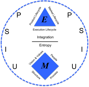 Everything you need to know about management is captured in the Organizational Physics map. Holacracy is an attempt to address the bottom of the Execution Diamond (structure and process).