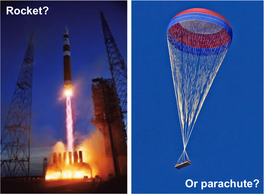 Is your organization designed to be a rocket or a parachute?