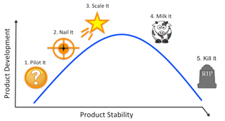 Figure 24. The stages of the product lifecycle
